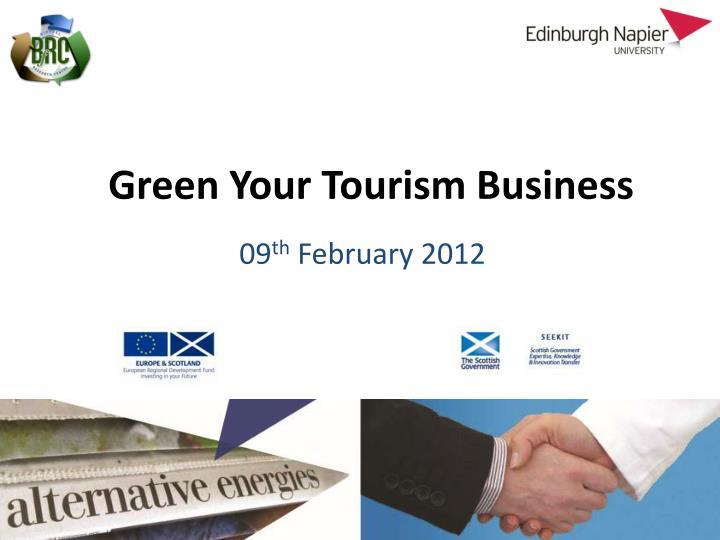 green your tourism business n.