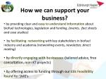 how we can support your business