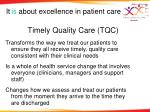 timely quality care tqc