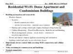 residential wi fi dense apartment and condominium buildings