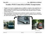 seamless wi fi connectivity in public transportation