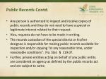 public records contd