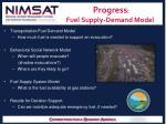 progress fuel supply demand model
