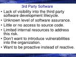 3rd party software
