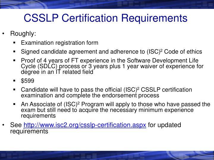 Ppt Csslp Powerpoint Presentation Id1677655