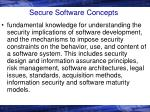 secure software concepts
