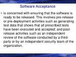 software acceptance
