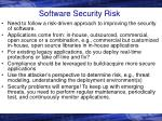 software security risk