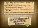 new inventions and the northern economy
