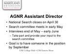 agnr assistant director