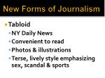 new forms of journalism
