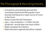 the phonograph recording industry