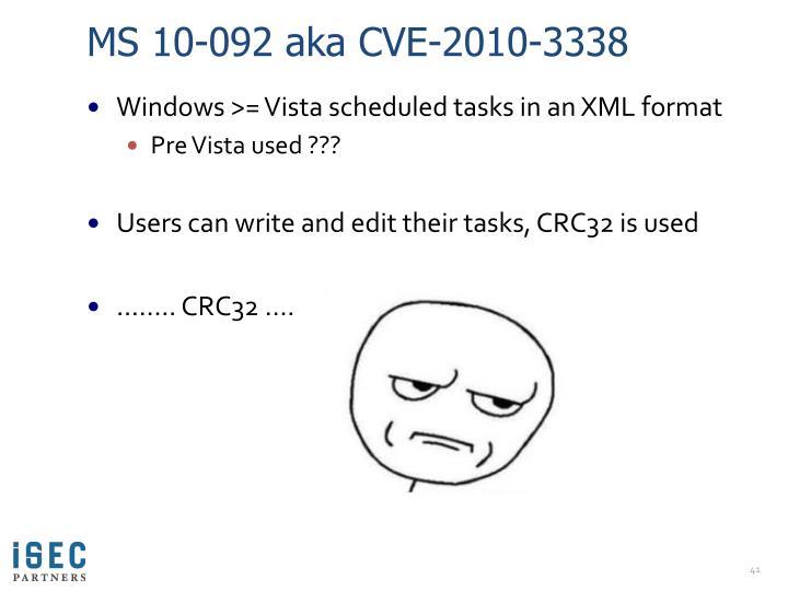 MS 10-092 aka CVE-2010-3338