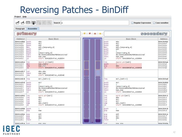 Reversing Patches -
