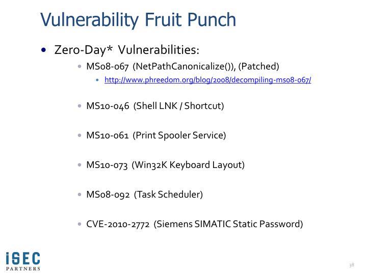 Vulnerability Fruit Punch