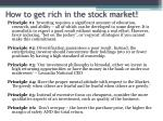 how to get rich in the stock market