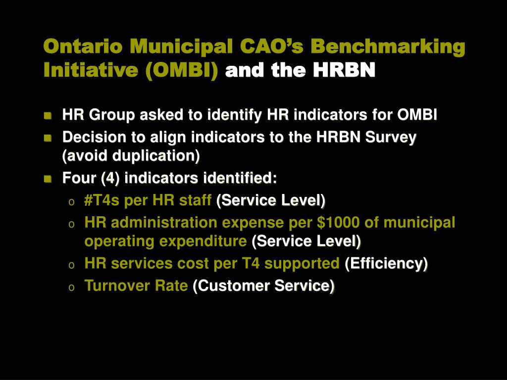 PPT - The Human Resources Benchmarking Network An HR Metrics