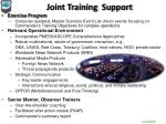 joint training support