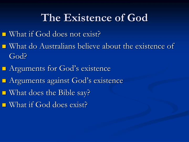 the existence of god n.