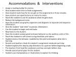 accommodations interventions