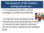 the purposes of the problem solving process are1