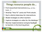 things resource people do