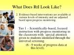 what does rti look like