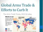 global arms trade efforts to curb it