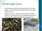small light arms