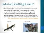 what are small light arms