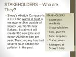 stakeholders who are they