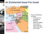 an existential issue for israel