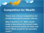 competition for wealth