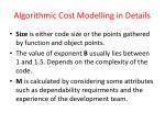 algorithmic cost modelling in details1