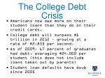 the college debt crisis