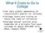 what it costs to go to college