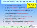 measuring workplace strength simplified to 12 questions buckingham coffman 2002 gallup