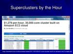 superclusters by the hour