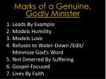marks of a genuine godly minister