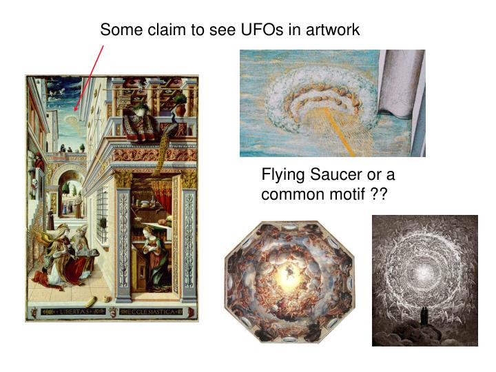 Some claim to see UFOs in artwork