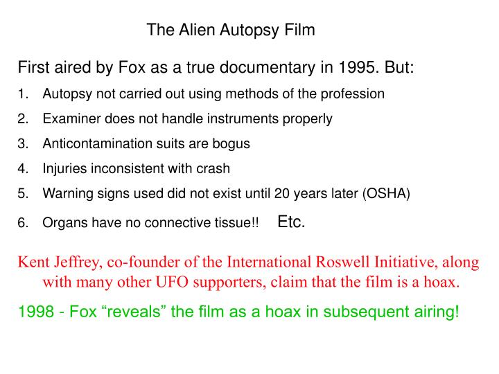 The Alien Autopsy Film