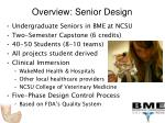 overview senior design