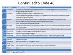continued to code 46