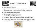 fdr s liberalism
