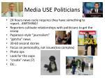 media use politicians
