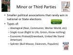 minor or third parties