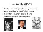 roles of third party
