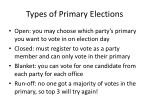 types of primary elections