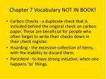 chapter 7 vocabulary not in book