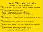 how to write a check activity 40 points turn in to tray when finished